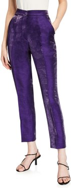 Iridescent Slim-Leg Trousers