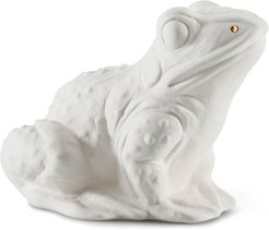 Ceramic Frog Scent Animal, White Gold