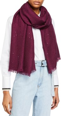 Cashmere-Silk Sequined Scarf