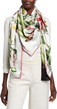 Kirsten Double Sided Silk Scarf