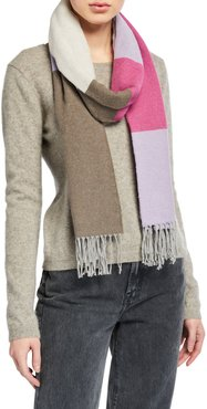 Recycled Cotton Block Scarf