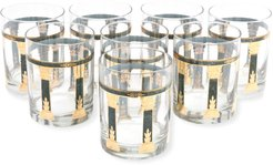 Vintage Bar Double Old Fashioned Glasses, Set of 8