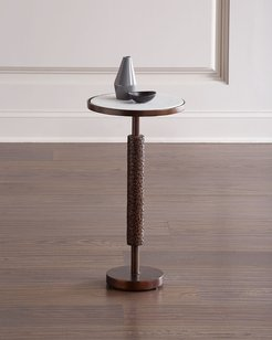 Hammered Bronze Martini Table