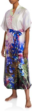 South Pacific Floral Long Robe