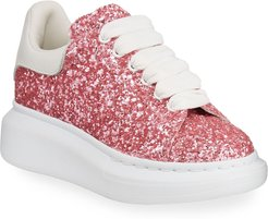 Allover Glitter Lace-Up Sneakers, Toddler/Kids