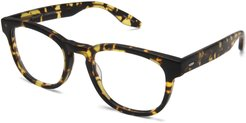 Byron Universal Fit Square Optical Frames, Matte Heroine Chic