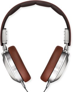 Leather Over-Ear Headphones, Brown