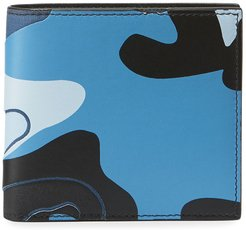 Camo-Print Leather Bifold Wallet