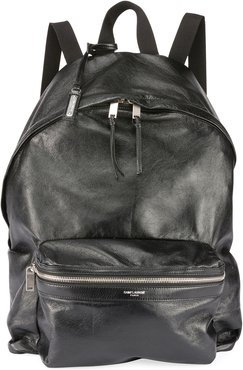 City Foldable Leather Backpack