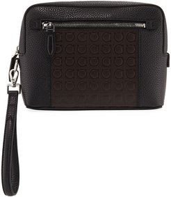 Firenze Gamma Textured Leather Belt Bag