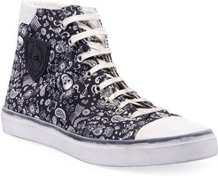 Bedford Graphic Canvas High-Top Sneakers