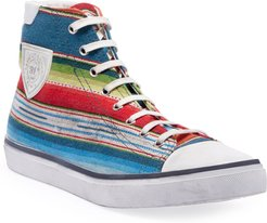 Bedford Southwest Striped High-Top Sneakers
