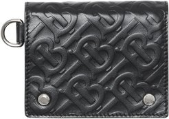 Logo Embossed Leather Wallet