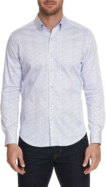 Becan Trim Fit Dot-Pattern Sport Shirt