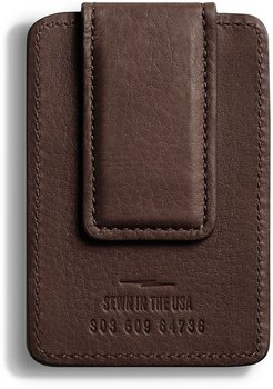 Leather Card Case with Magnetic Money Clip