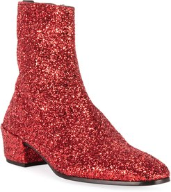 Caleb 40 Glitter Zip Booties
