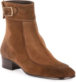 Miles 30mm Suede Buckle Ankle Boots