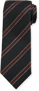 Oxford Diagonal Stripe Wool Tie