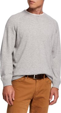 Athletic Raglan-Sleeve Cashmere Sweater