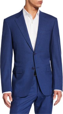 Solid Stretch Two-Piece Suit
