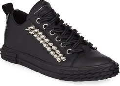 Studded Blabber Leather Sneakers