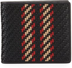 Pelle Tessuta Woven Leather Bi-Fold Wallet