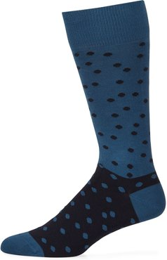 Two-Tone Dotted Socks