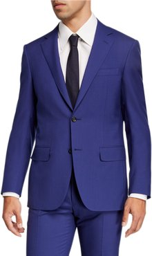 Super 120s Wool Solid Two-Piece Suit