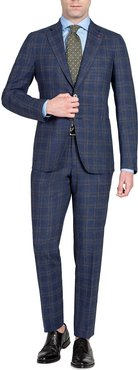 Plaid Wool-Blend Two-Piece Suit