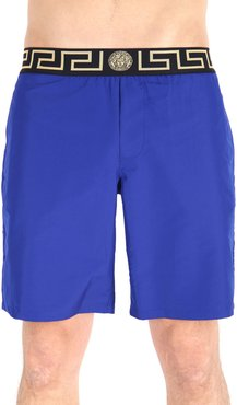 Solid Swim Trunks with Signature Waistband