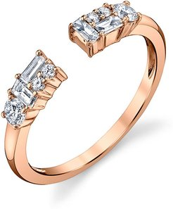 Open Mixed-Cut Diamond Ring in 18K Rose Gold, Size 6.75