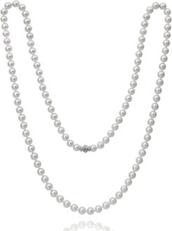 """36"""" Akoya Cultured 9.5mm Pearl Necklace with White Gold Clasp"""