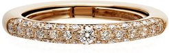 Never Ending 18k Pink Gold Diamond Ring, Size 6-8