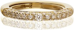 Never Ending 18k Yellow Gold Diamond Ring, Size 6-8