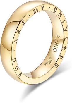 """Dirce """"You Are My Universe"""" 18k Yellow Gold 4.3mm Band Ring, Size 6.25"""