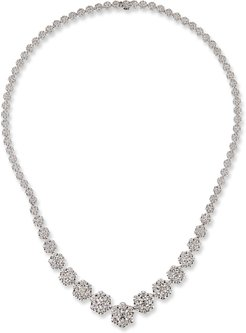 18k White Gold Graduated Diamond Necklace