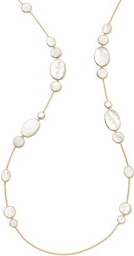 18K Polished Rock Candy Hero Necklace in Mother-of-Pearl