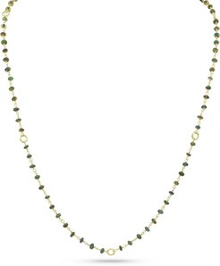 18k Opal Bamboo-Link Necklace