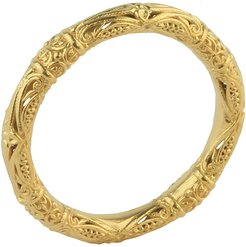 18k Yellow Gold Etched Ring