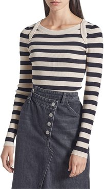 The It Girl Striped Cotton Top