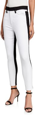 Good Two-Tone High-Rise Ankle Skinny Jeans