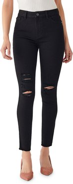 Farrow Ripped Ankle High Rise Skinny Jeans