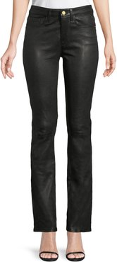 Le Mini Boot-Cut Leather Pants