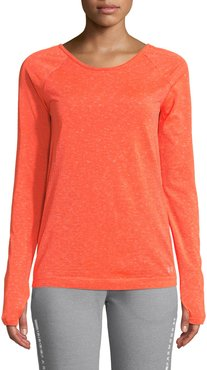 Vanish Seamless Space-Dye Long-Sleeve Top