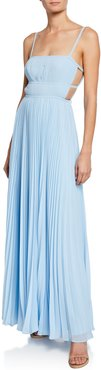 The Erina Sleeveless Tie-Back Dress with Cutouts