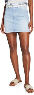 Le Mini Two-Tone Denim Skirt