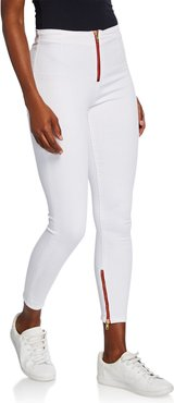 High-Rise Zip-Fly Skinny Ankle Jeans