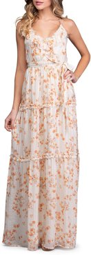 Floral Strappy Tiered Maxi Dress