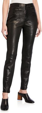 Le Sylvie Leather Slim Pants