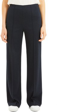 Pale Stripe Wide-Leg Pants